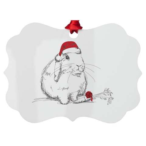 Loppy Holidays Metal Ornament