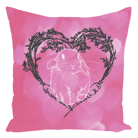 Loppy Valentine's Throw Pillow