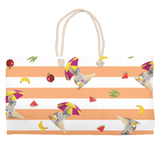 Sun's Out, Buns Out Beach Tote (Coral)