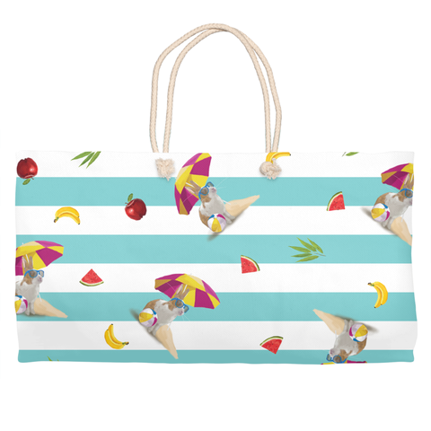 Sun's Out, Buns Out Beach Tote (Seafoam)