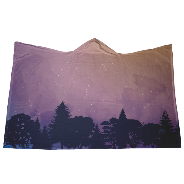 Star Light, Bun Bright Hooded Blanket—Sunset