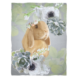 Hour By Flower Fleece Blanket