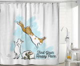 Find Your Hoppy Pace Shower Curtain