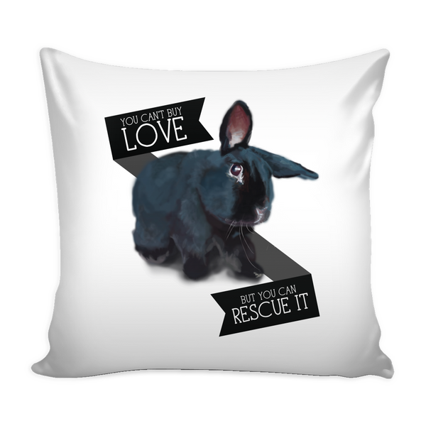 Black Bunny Friday Pillow Cover