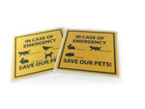 Save Our Pets Emergency Sign