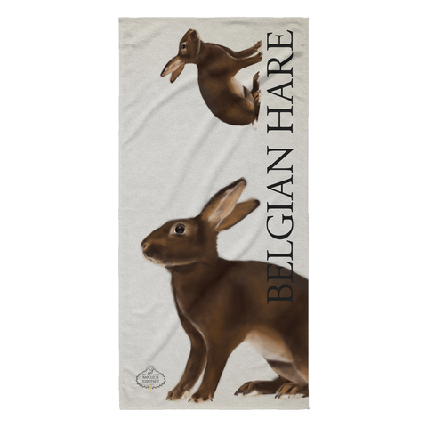 Belgian Hare Beach Towel