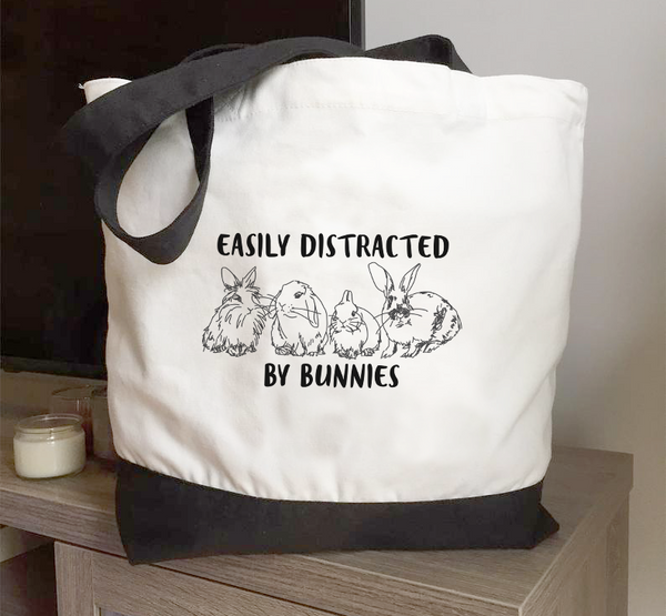 All Eyes on Bun Two Toned Tote
