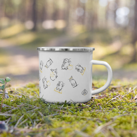 Put Your Ears Up Enamel Mug