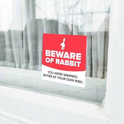 BEWARE Window Decal