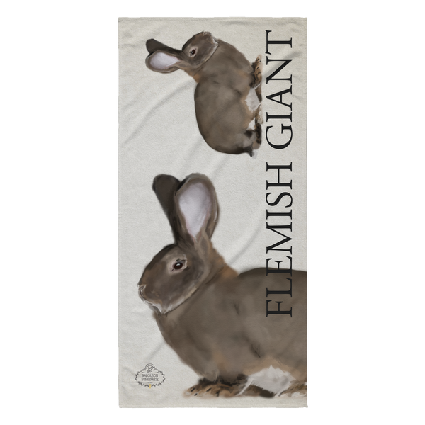 Flemish Giant Beach Towel