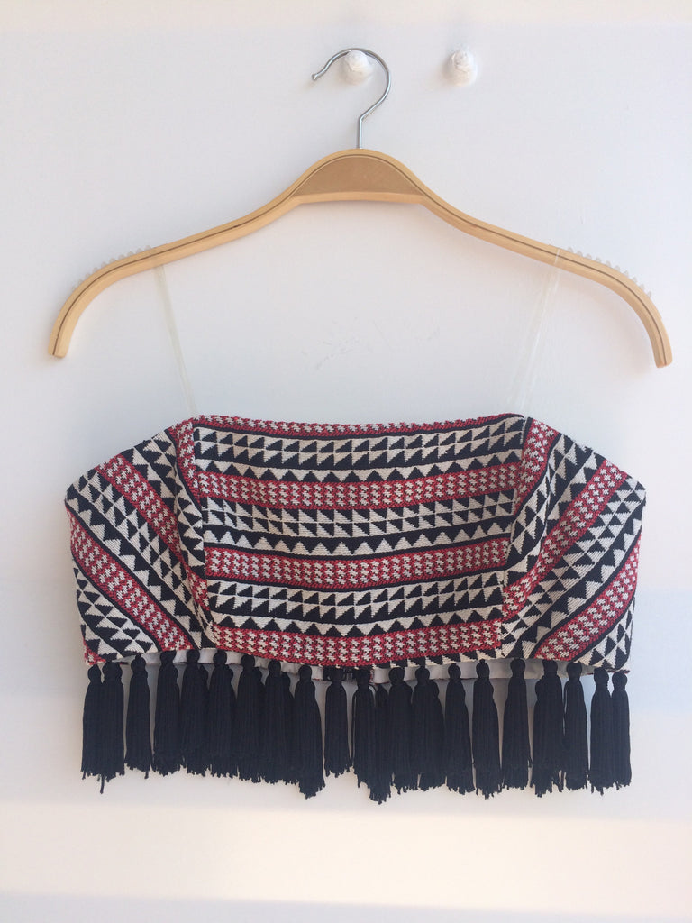 Tribal Cropped Top