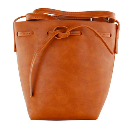 Camel Tote Bucket Bag