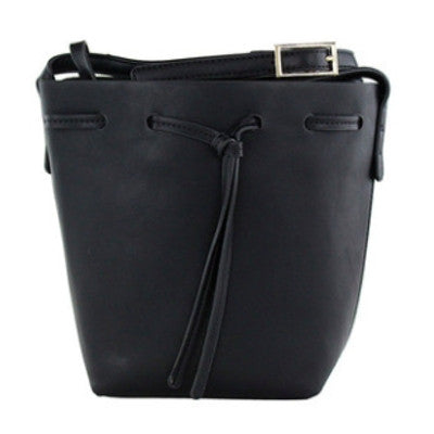 Black Tote Bucket Bag