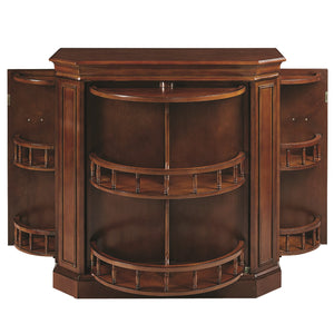 "RAM Gameroom ""BAR CABINET W/ SPINDLE - CHESTNUT"" - Ready Bars"