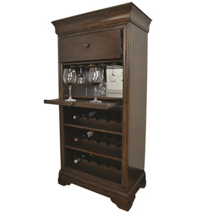 "RAM Gameroom ""BAR CABINET W/ WINE RACK - CAPPUCCINO"" - Ready Bars"