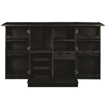 "RAM Gameroom ""PORTABLE FOLDING BAR CABINET-BLACK"" - Ready Bars"
