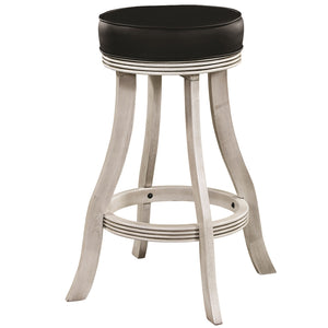 "RAM Game Room ""BACKLESS BARSTOOL - ANTIQUE WHITE"" - Ready Bars"