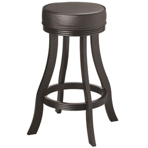 "RAM Game Room ""BACKLESS BARSTOOL - BLACK"" - Ready Bars"