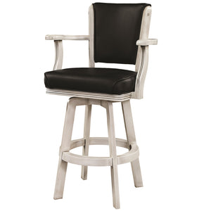 "RAM Game Room ""SWIVEL BARSTOOL WITH ARMS-ANTIQUE WHITE"" - Ready Bars"