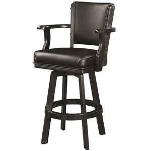 "RAM Game Room ""SWIVEL BARSTOOL WITH ARMS-BLACK"" - Ready Bars"