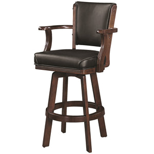 "RAM Game Room ""SWIVEL BARSTOOL WITH ARMS-CAPPUCCINO"" - Ready Bars"