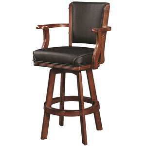 "RAM Game Room ""SWIVEL BARSTOOL WITH ARMS-CHESTNUT"" - Ready Bars"