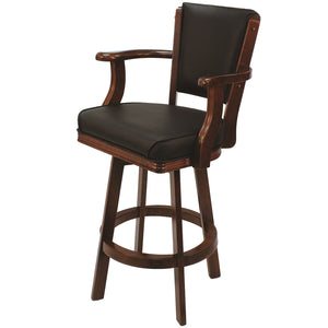 "RAM Game Room ""SWIVEL BARSTOOL WITH ARMS-ENGLISH TUDOR"" - Ready Bars"