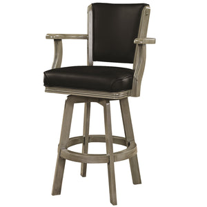 "RAM Game Room ""SWIVEL BARSTOOL WITH ARMS-SLATE"" - Ready Bars"