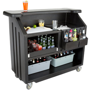 "Cambro BAR540110 Cambar 54"" Portable Bar with 5-Bottle Speed Rail - Ready Bars"