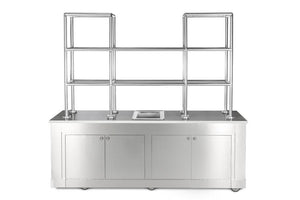 "BonChef ""STAINLESS STEEL BACK BAR WITH GLASS SHELVES"" - Ready Bars"