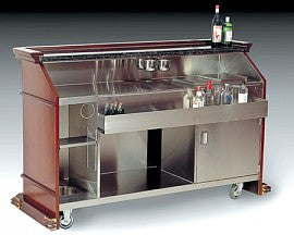 "BonChef ""PORTABLE LIQUOR BAR INCLUDES SINK/ICE WELL, STANDARD COLORS OF CORIAN TOP"" - Ready Bars"