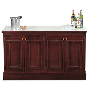 "Bon Chef 51004 61"" x 25 1/4"" x 36"" Wood Back Bar - Ready Bars"