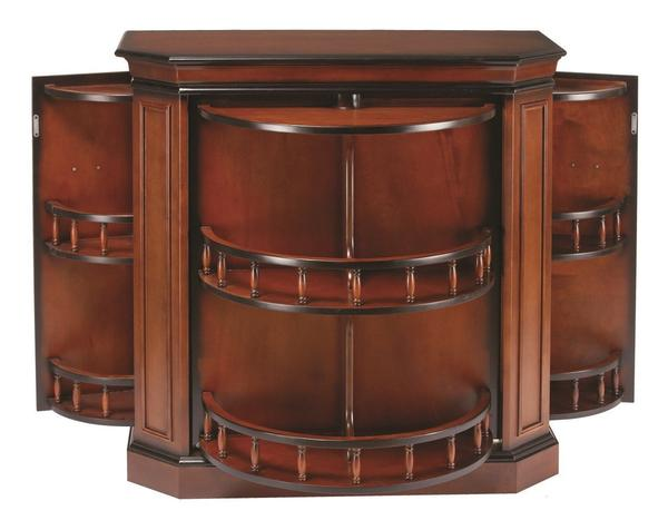 RAM Gameroom Bar Cabinet w/ Spindle in English Tudor - Ready Bars