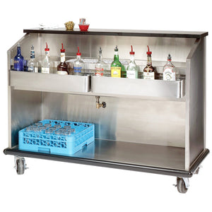 "Advance Tabco AMS-6B 74"" Heavy-Duty Portable Bar with Stainless Steel Interior - Ready Bars"
