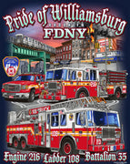 "FDNY E216 L108 ""Pride of Williamsburg"" / Subway Tee"