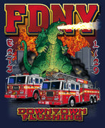 FDNY E273 L129 Downtown Flushing Godzilla Tee - Sizes Up to 6XL