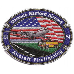 Orlando  Sanford Airport Crash Rescue Patch