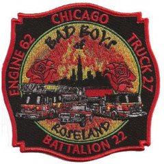 Chicago Engine 62 Truck 27 Fire  Patch