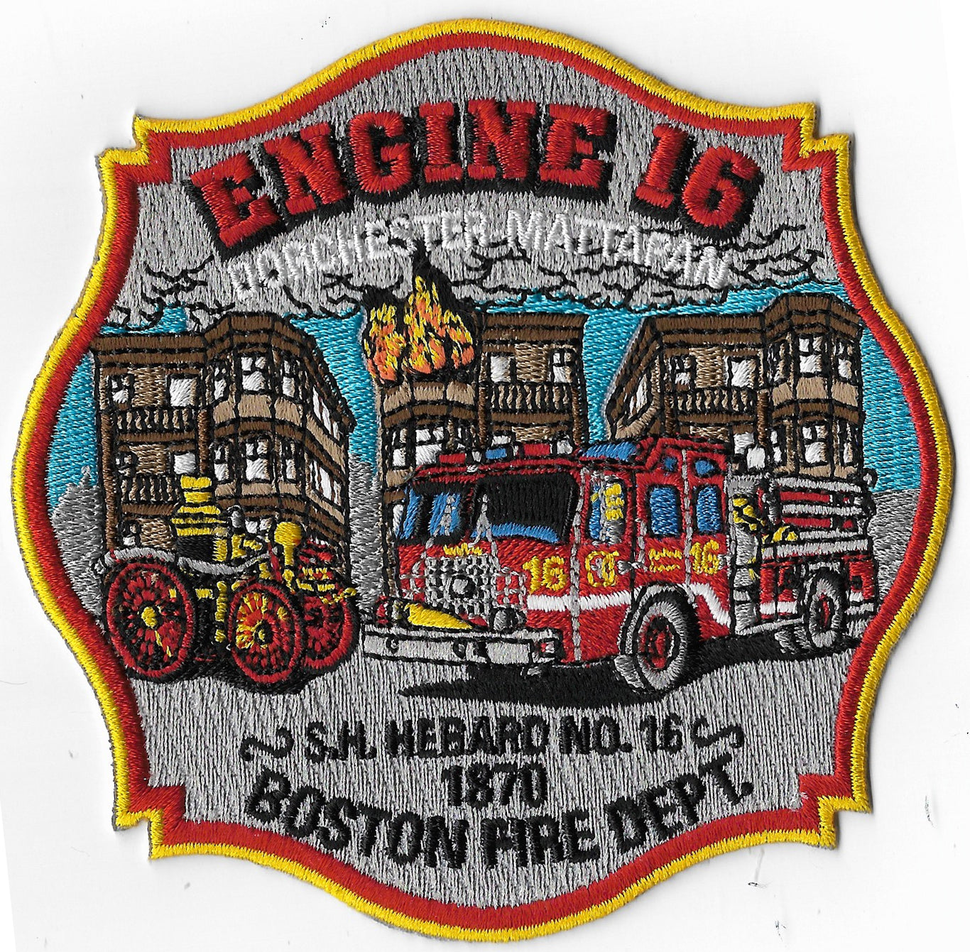 BOSTON FIRE DEPT ENGINE 16 PATCH NEW DESIGN