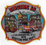 BOSTON  FIRE DEPT. ENGINE 16  PATCH NEW DESIGN