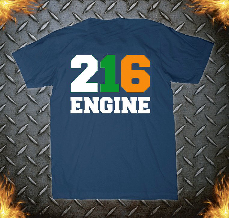 NYFD E-216 Navy IRISH Tee
