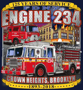 FDNY Engine 234 St. John's East Crown Heights, Brooklyn Fire Tee