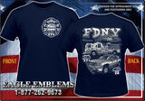 FDNY E-271 Battalion 28 Brooklyn Navy Tee Grey/White Design