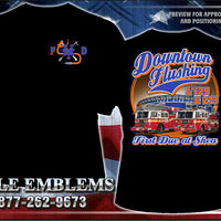 "New York City Fire Dept. E-273 L-129 ""Shea Stadium Mets"" Black Tee"