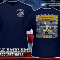 FDNY E-283 Brownsville Express Brooklyn Navy Fire Tee