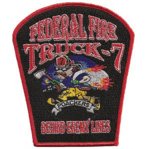 SAN DIEGO NAVAL BASE FEDERAL FIRE TRUCK 7 Patch