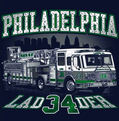 Philadelphia Ladder 34 Tiller Navy Tee