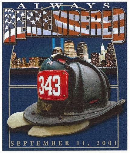 "343 ""Always Remembered""  9-11  Vinyl Decal  4"" - 28"""