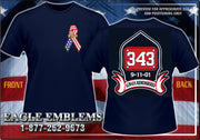 343 Ribbon 9-11 Navy Tee