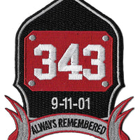 9-11 Always Remembered Fire Patch